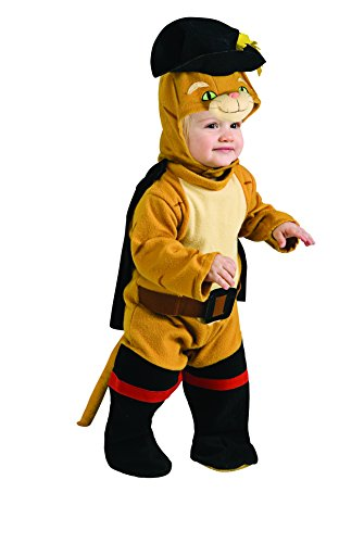 [Shrek Romper And Headpiece Puss N Boots, Puss N Boots, 0-9 Months] (9 To 5 Costumes)