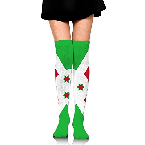 Flag Of Burundi Compression Socks For Men & Women - BEST For Running, Nurses, Shin Splints, Flight Travel, Skiing & Maternity Pregnancy - Boost Athletic Stamina & Recovery