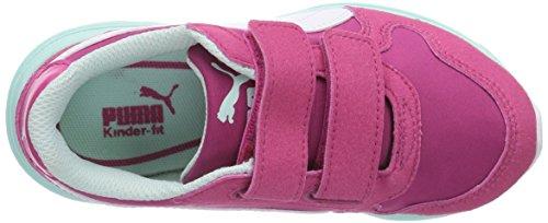 Puma Future ST Runner V Kids - zapatilla deportiva de material sintético infantil rosa - Pink (beetroot purple-white-bay 03)