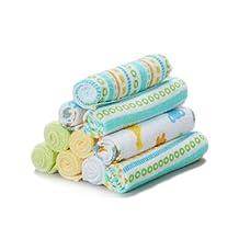 Spasilk Washcloths, Yellow Stripes, 10-Count