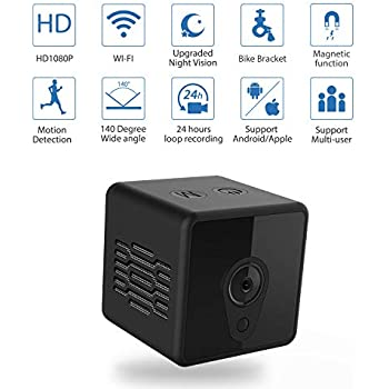Mini Spy Camera WiFi, Jayol 1080P Spy Hidden Camera Upgraded Night Vision  and Motion Detection Spy Cam, Portable Nanny Cam for Home Office Security  and ... 9695a9ddb2b
