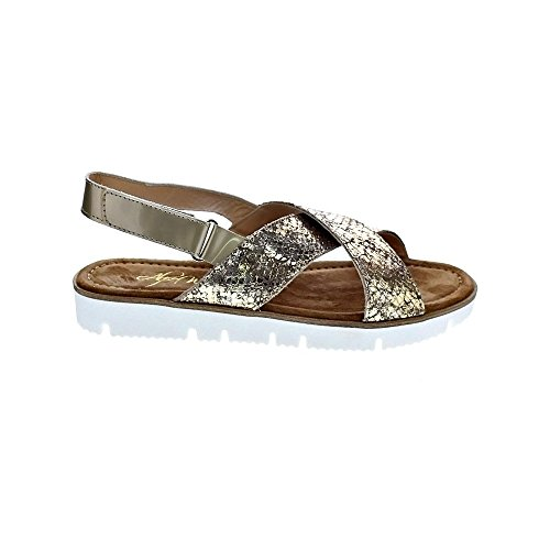 Slide Alpe Sandal Bronze Adjustable On Flat q0Cw01