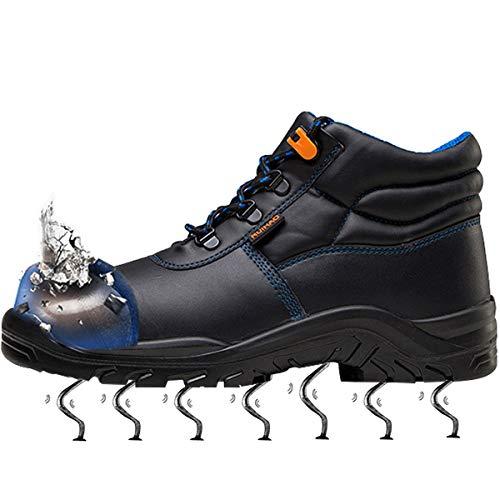 01 Vacuno Entrenador Con Mujer Botas Zapatillas Piel Senderismo Acero Azul Hombre Zapatos Trabajo De Puntera Unisex Seguridad Suadeex Impermeables UPCqB