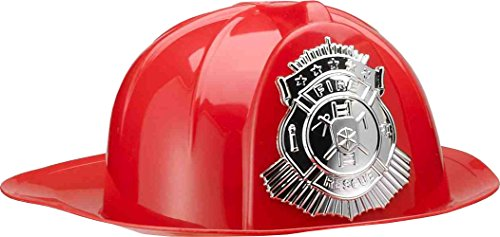 Forum Novelties Deluxe Fireman's Helmet (Red) Adult (Fireman Hats For Adults)