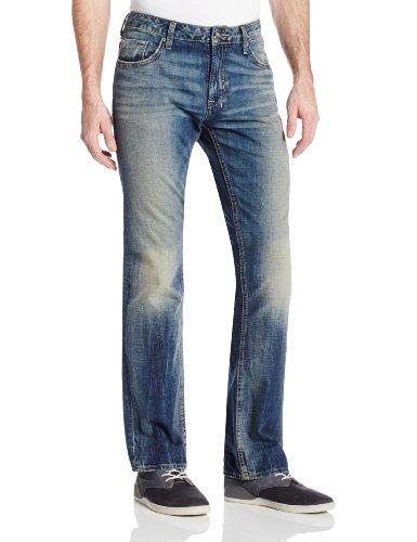 Buffalo David Bitton Men's Six Slim Straight Leg Jean In Vintage and Worn, Vintage/Worn, 30x32