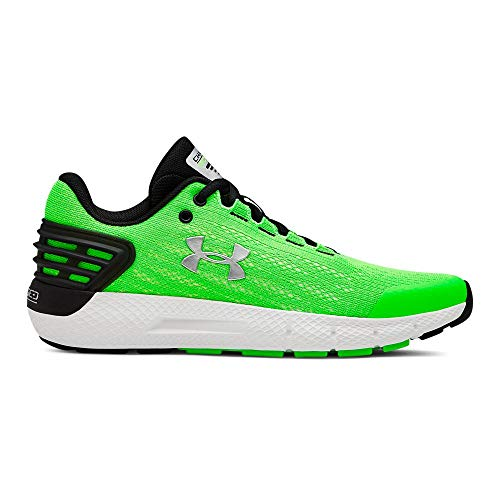 - Under Armour Boys' Grade School Charged Rogue Sneaker, Zap Green (300)/White, 4