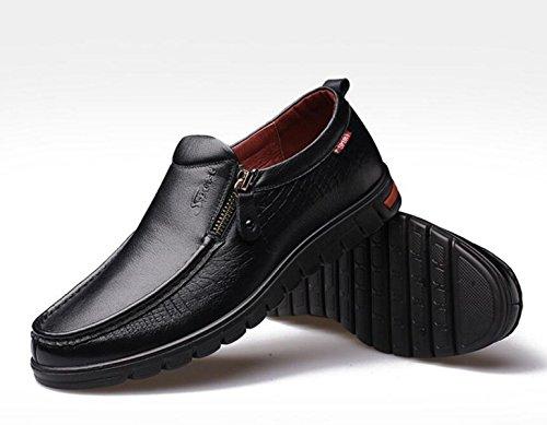 En Cuir GRRONG Respirant Jaune Noir Chaussures En Brun Black Cuir Loisirs Véritable Homme Pour 6qf5q