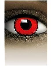 FXCONTACTS Gekleurde Halloween Contactlenzen, Zachte Motief lens voor chique Jurk Kostuum, 2 stuks, 1 paar, Eenmalig gebruik zonder voorschrift, 2 stuks 1 Paar - Verkleed je als VOLTURI VAMPIER - Rood