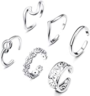 Briana Williams Adjustable Toe Rings for Women Girls Open Tail Ring Band Hawaiian Foot Jewelry