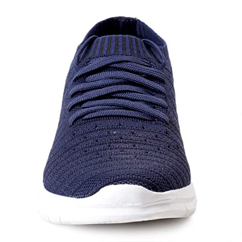 41bFPXGOrHL. SS500  - Bacca Bucci® Athleisure Series Running Sneakers Shoes Men Slip-On Fly Knitted Lightweight Casual Shoes for Fitness Gym Tennis Training Jogging Trekking Driving Power Yoga Sport Shoes