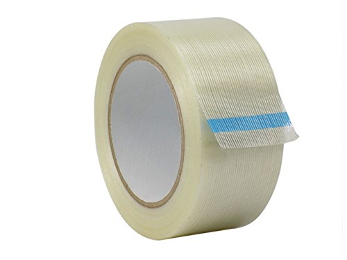 WOD FIL-795 Commodity Grade Fiberglass Reinforced Filament Strapping Tape - Filaments Run Lengthwise (Also Available in Multiple Sizes): 2 in. Wide x 60 yds. (4 Mil) (Pack of 12)