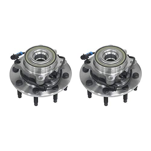 2pcs Front Left & Right Wheel Hub & Bearing Assembly w/ABS for 00-06 Chevyt Avalanche/Silverado/Suburban & 00-06 GMC Sierra/Yukon XL & 03-07 Hummer H2 4WD AWD by JM