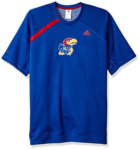 adidas NCAA Kansas Jayhawks Mens On Court S/Shooting Shirton Court S/Shooting Shirt, Collegiate Royal, ()