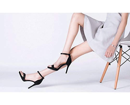 Gold high new female Spring summer shoes heels heels elegant Color Size 38 Black wedding high P1dxdYq