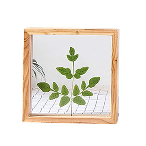 JUSTDOLIFE Wood Photo Frame Double Sided Artwork Display Frame Gift Picture Frame for Specimen
