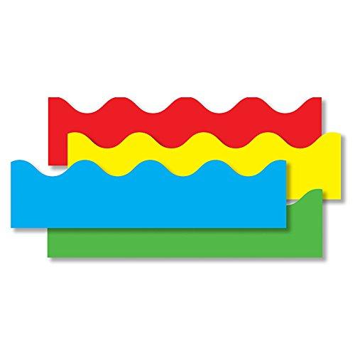 CARSON DELLOSA BORDER SET SCALLOPED 4/PK RED (Set of 3)