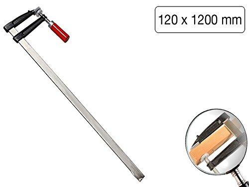 Schraubzwinge 1200 x 120mm mit Holzgriff