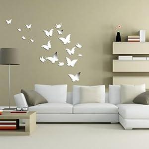 20 PCS 3d Mirror Butterfly Wall Stickers Art Decal Very Nice Butterflies  Home DIY Decor