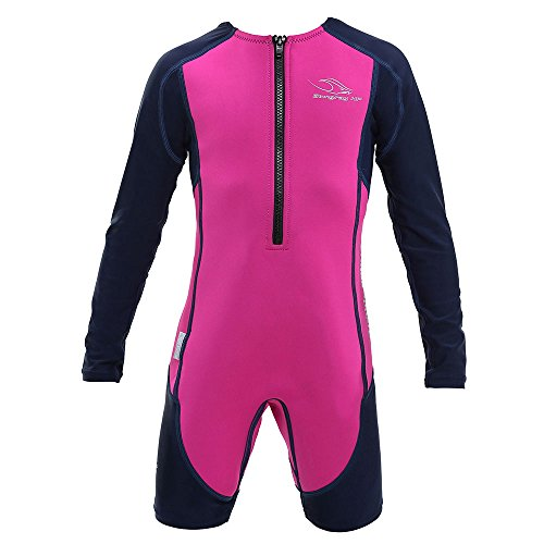 Aqua Sphere Stingray Long Sleeve Wet Suit, Pink/Blue, Size - Suits Ray