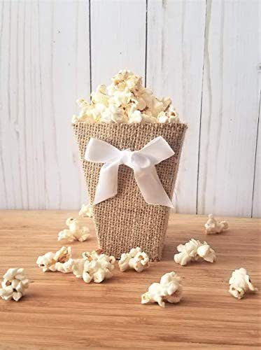 "Amazon.com: Rustic Popcorn Boxes Mini 4"" Tall Burlap"