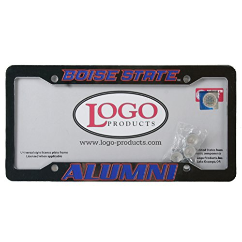 Logo Products Boise State Broncos Alumni Chrome Plastic License Plate Frame