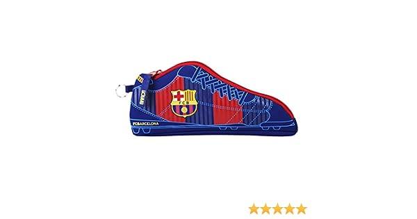 Futbol Club Barcelona- FC Barcelona Estuche portatodo Forma Zapatilla, Color Azul/Granate, 24 cm (SAFTA 811629584): Amazon.es: Juguetes y juegos