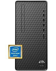 HP Desktop PC, Intel Pentium Gold G6400 Processor, 8 GB of RAM, 256 GB SSD Storage, Windows 10, High-Speed Performance Computer, 8 USB Ports, Business, Study, Videos, & Gaming (M01-F1014) photo