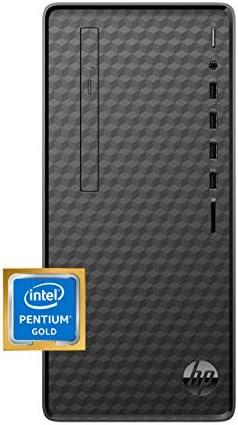 HP Desktop PC, Intel Pentium Gold G6400 Processor, 8 GB of RAM, 256 GB SSD Storage, Windows 10, High-Speed Performance Computer, 8 USB Ports, Business, Study, Videos, & Gaming (M01-F1014)