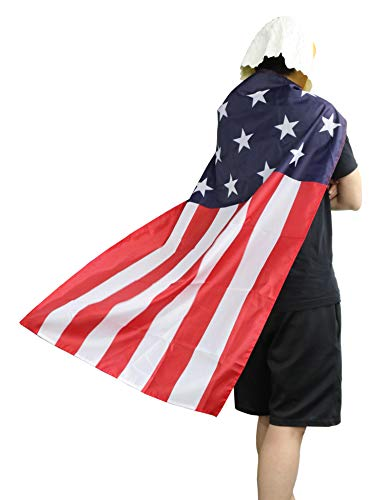 LarpGears Halloween Eagle Costume American Flag Cape for