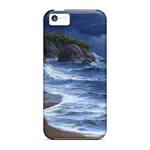 New OoNOqzX715fwPbI Night Sea Tpu Cover Case For Iphone 5c