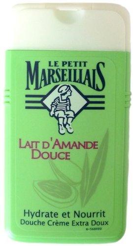 Le Petit Marseillais 1 Bottle of Body Wash Your Choice, French Shower Cream 6 Varieties 250ml (8.4oz) (Lait d'Amande Douce (Sweet Almond (Petite Cream)