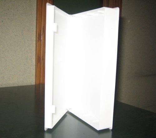 50 WHITE VHS LIBRARY CASE, FULL SLEEVE, NO HUB, PSV12