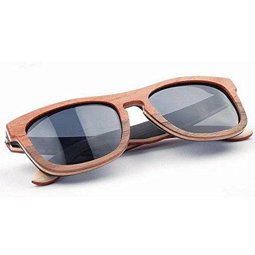 sol Adult color marco los de madera del calidad sol Gafas del hombres de de de lente TAC mano doble la polarizadas Gafas la de a conducción ULTRAVIOLET alta Eyewear de de hechas sol de de oscura Gafas qr6rt