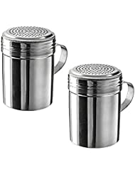 10 oz Stainless Steel Dredge with Handle (Pack of 2)
