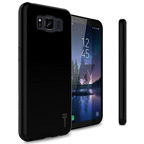 CoverON FlexGuard Series Galaxy S8 Active Clear Case, Slim Fit Flexible TPU Phone Cover - Black