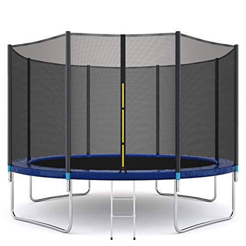 Giantex Trampoline Combo Bounce Jump Safety Enclosure Net W/Spring Pad Ladder, 12 FT