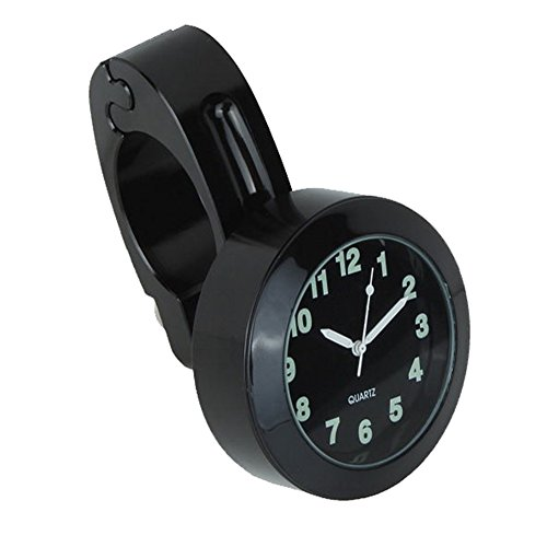 Wasserdicht großes Ziffernblatt Motorrad Lenker Uhr Motorrad uhr Lenker Uhr wasserdicht schwarz weiss Aluminium 7/8