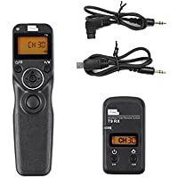 Pixel T9-S1/S2 LCD FSK 2.4GHz Wired & Wireless Shutter Release Timer Remote Control with Two Cables for Sony A560/A580/A390/A450/A500/A550/A850/A900/A350/A200/A58/A7RII/A3000/A6000/RX100II (S1/S2)