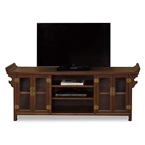 (China Furniture Online Elmwood Sideboard, Altar Style Chinese Media Cabinet Mahogany Finish )