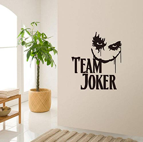XINXINXZ New Team Clown Wall Stickers Bedroom Applique Decoration Children's Room Wall Stickers Vinyl car Stickers Living Room Wallpaper 57x50cm