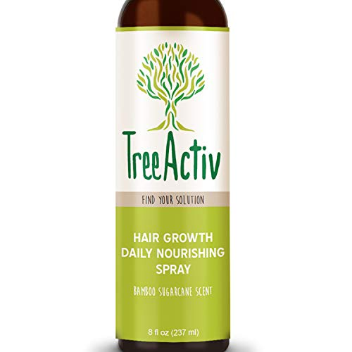 TreeActiv Hair Growth Daily Nourishing Spray | Natural Leave in Conditioner | Anti Frizz | Reduce Curly Frizzy Hair| Argan Oil | Biotin | Keratin | Silk Aminos | Tea Tree (Bamboo Sugarcane)