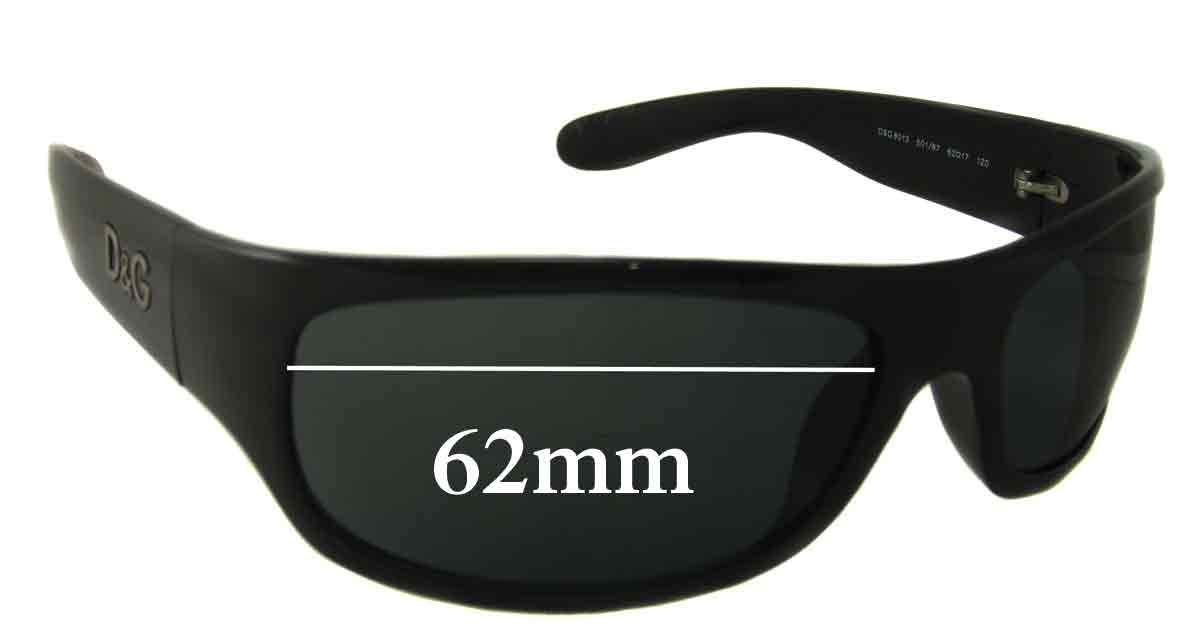 SFX Replacement Sunglass Lenses fits Dolce /& Gabbana DG8013 62mm Wide