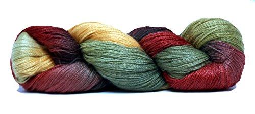 Fiesta Yarns Hand Dyed Ballerina Yarn, Cedar (Fiesta Knitting Yarn)