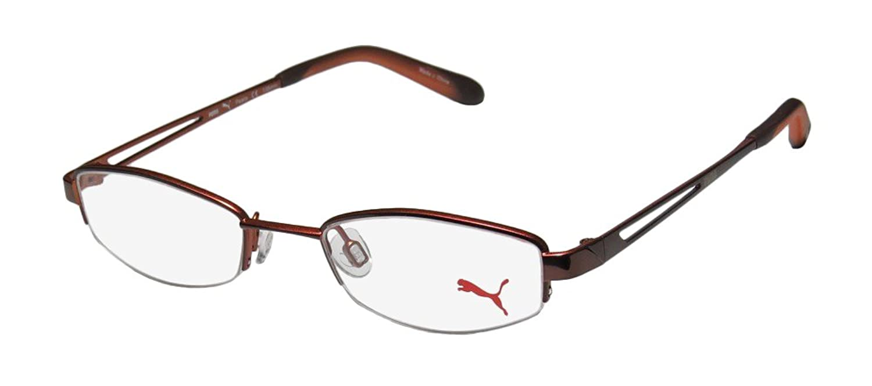 Puma 15337 Peace Mens/Womens Rx Ready Celebrity Style Cat Eye Half-rim Eyeglasses/Eyeglass Frame