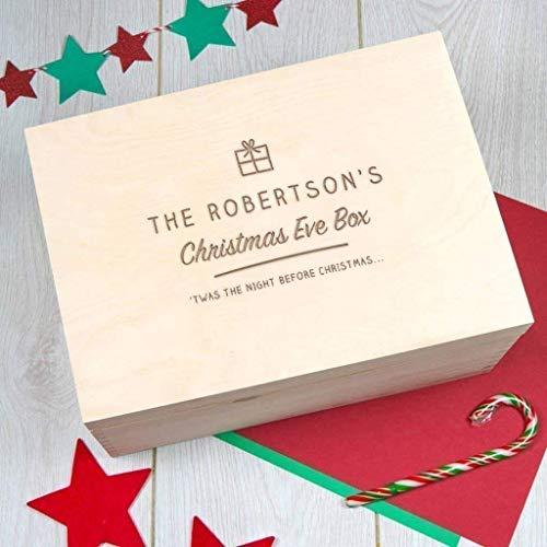 (Large Personalized Christmas Eve Box/Engraved Christmas Eve Box/Large Christmas Box/Family Christmas Eve Box/Wooden Christmas Stocking Alternative)