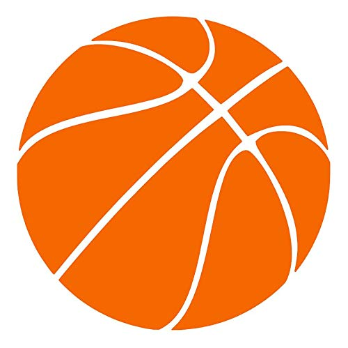 - Basketball [Pick Any Color] Vinyl Transfer Sticker Decal for Laptop/Car/Truck/Window/Bumper (5in x 5in (Car Size), Orange)