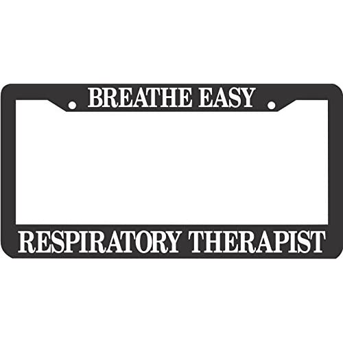 Breathe Easy Respiratory Therapist License Plate Frame supplier