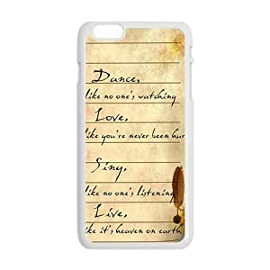 Artistic Poetry notes Cell Phone Case for Iphone 6 Plus