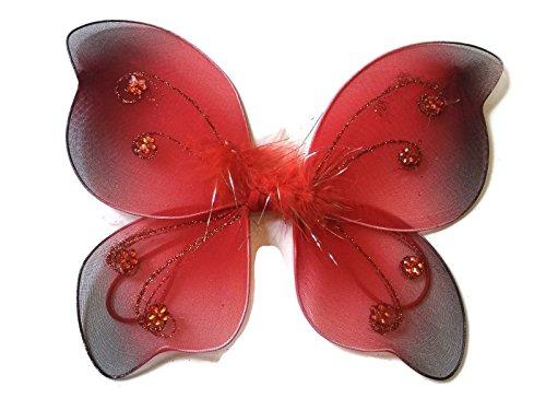 Rush Dance Newborn Doll Fairy Angel Wings Tinkerbell Princess Tutu Photography (Newborn, Red)