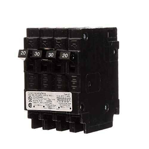 (Siemens Q22030CT 30-Amp Double Pole Two 20-Amp Single Pole Circuit)